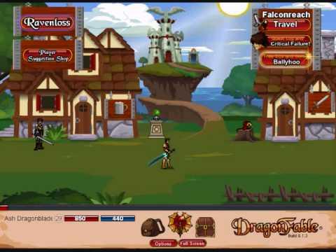 DragonFable - ArchKnight: Returning To Normal Falconreach!