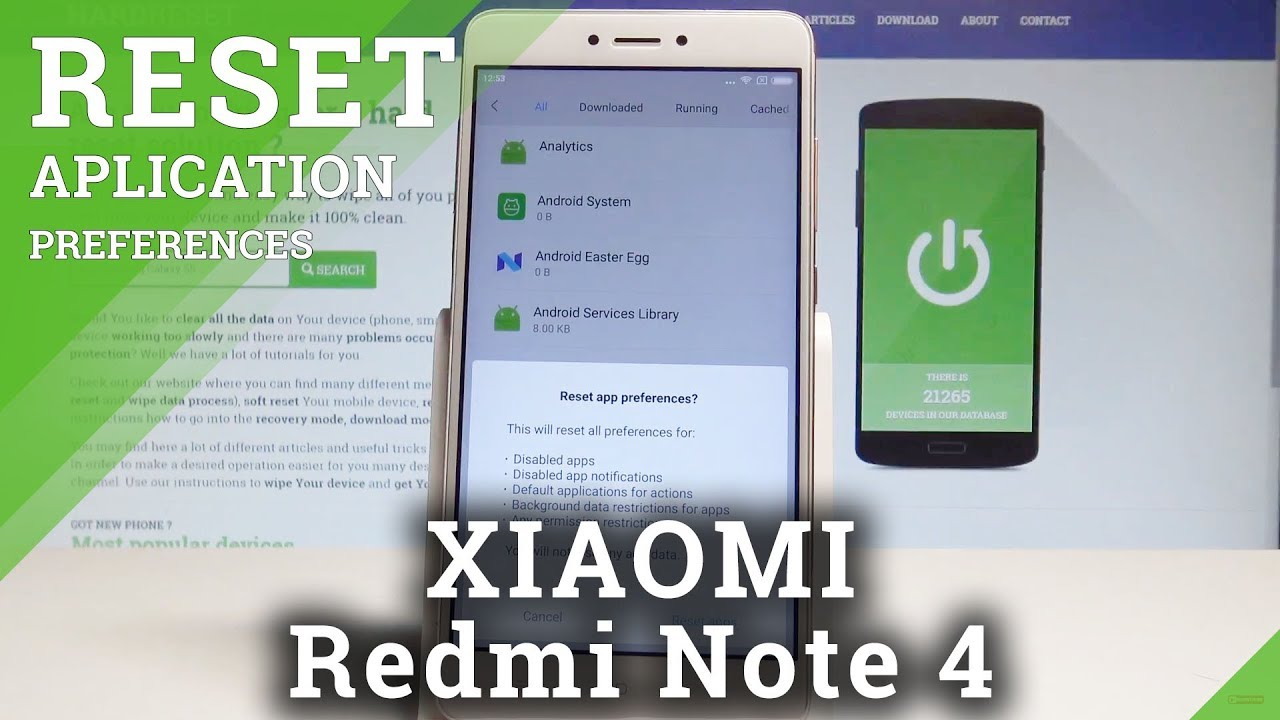 How to Reset App Preferences on XIAOMI Redmi Note 4 - Restore App Settings