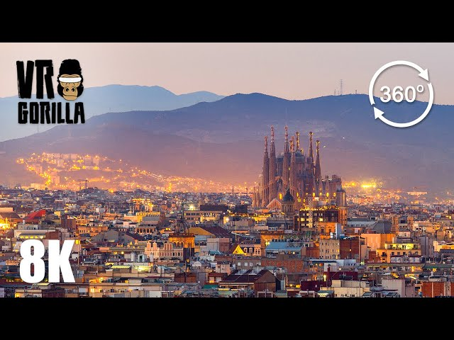 Discover Barcelona In A Guided VR City Tour (8K 360 VR Video)