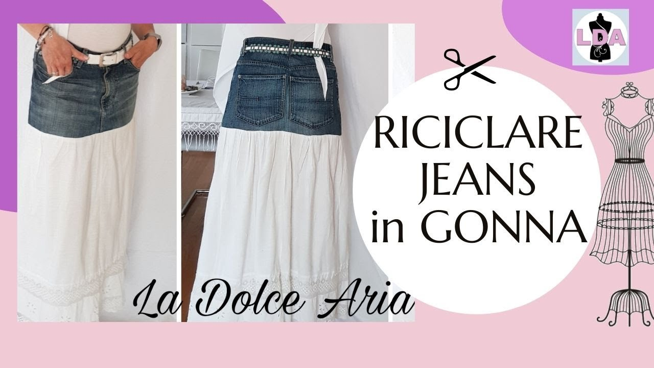 the best attitude b8d3c d97a1 Da jeans a gonna | DIY skirt-SUB