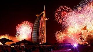 Burj Khalifa Dubai fireworks 2k17