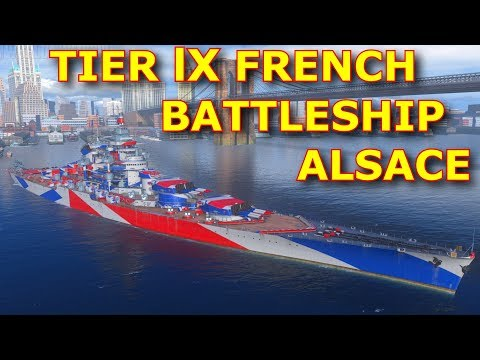 WoWs►PTS 0.7.1►New Collection, Port, Camo and Flag / ALSACE Gameplay