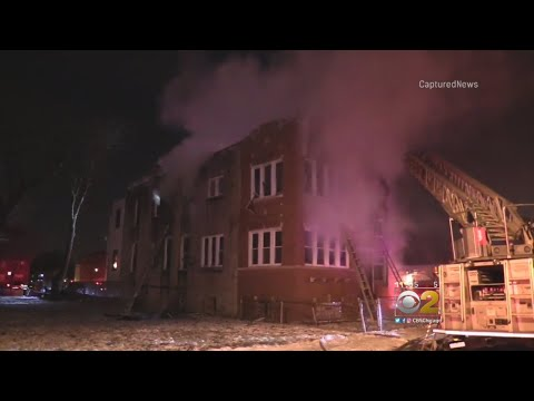 No Injuries After Firefighter Falls Through Floor At Englewood Blaze