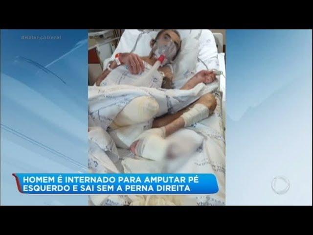 Família pede justiça para idoso que teve perna amputada em erro médico
