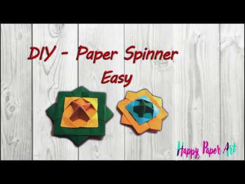 DIY Action Toy | Paper Spinner| Origami Spinning Top