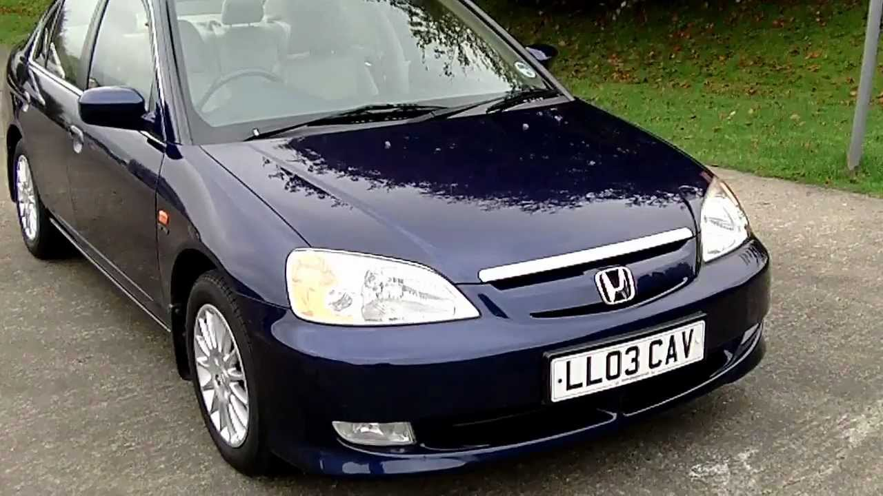 Elegant Www.bennetscars.co.uk 2003 Honda Civic IMA SE Executive, 4 Dr Hybrid 55k  FSHNOW SOLD   YouTube