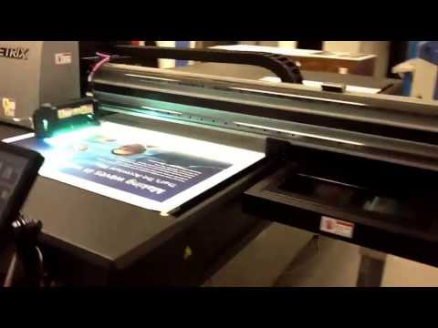 Genesis Imaging Chelsea Jetrix 2030 flatbed printer Magnetic roll print