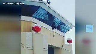 С крыши «Баскет-холла» сорвался рабочий
