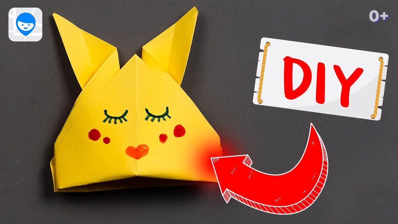 DIY  🔝  Как сделать оригами покемона Пикачу из бумаги ✉️ Простые оригами Пикачу своими руками.