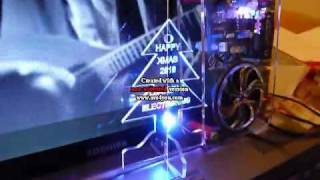 Ipod amplifier and rainbow LED USB mini Xmas Tree
