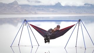 Nomad: Hammocking at The Bonneville Salt Flats