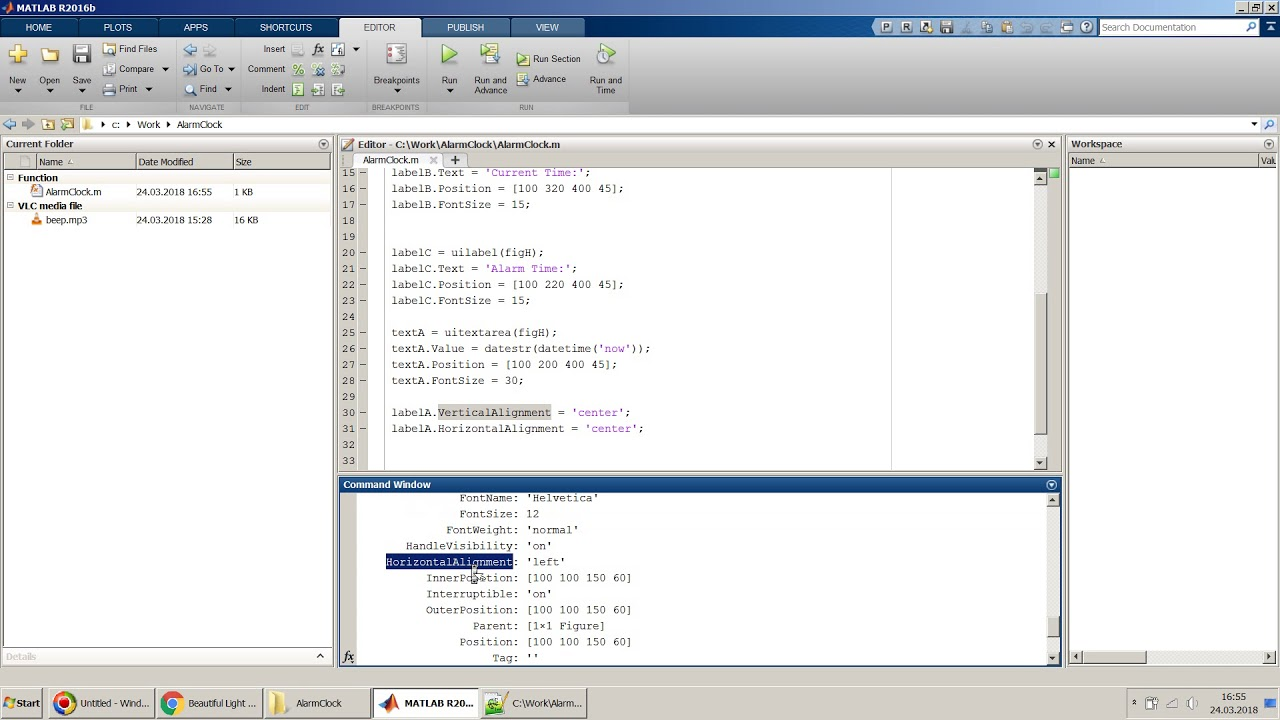 How to create an Alarm Clock in MATLAB App Designer in Simple Steps?