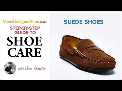 How To Clean Suede Shoes, MensDesignerShoe.com, ASMR