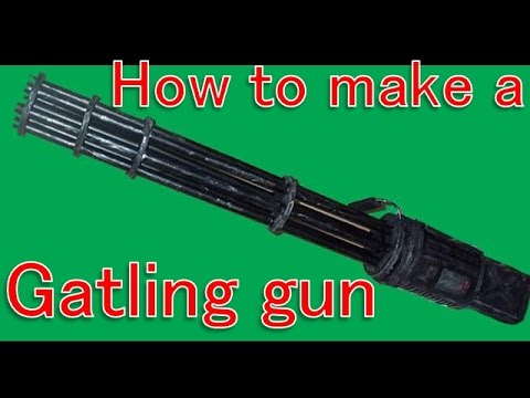 How to make a gatling gun(vulcan cannon) [Cosplay props tutorial]