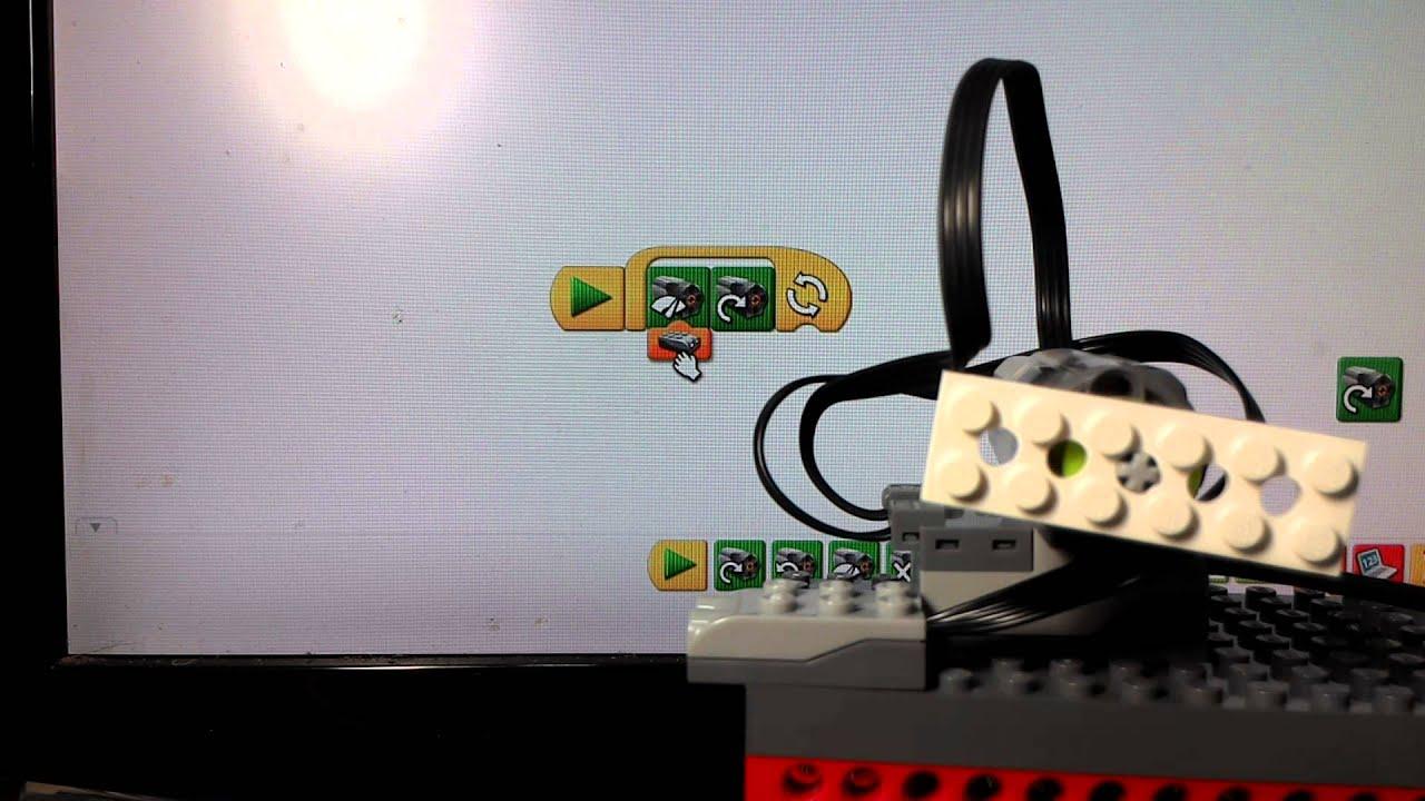 Lego Wedo motor speed block and distance sensor
