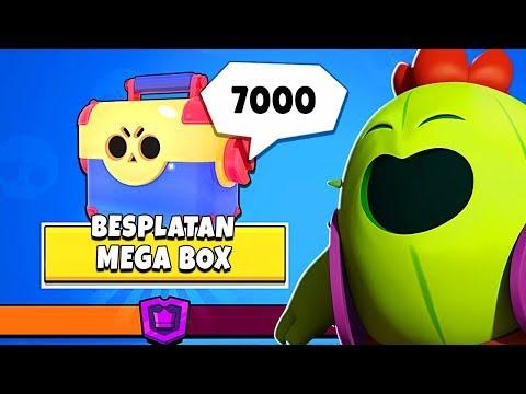 BESPLATAN MEGA BOX NA 7000 TROFEJA ME JE SKROZ IZNENADIO | Brawl Stars