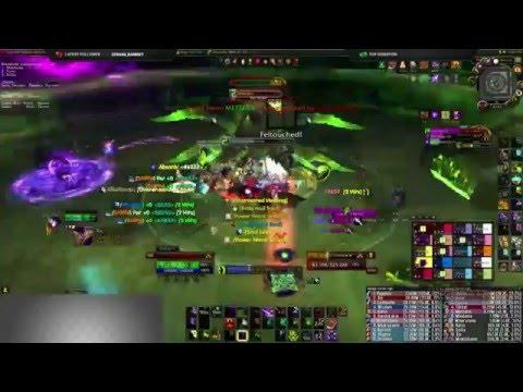 Xhul mythic kill, Uranium kazzak [Warlock POV]
