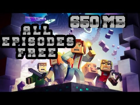MINECRAFT STORY MODE || ALL EPISODES FREE ||650 MB