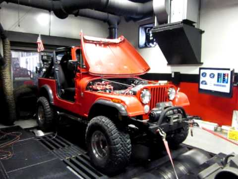 Jeep CJ on Dyno with LS1