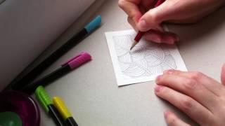 2 урок по рисованию. (Зентангл. Дудлинг. Раскраски антистресс.)