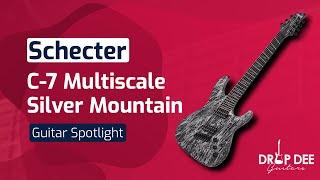 GUITAR DEMO: Schecter C-7 Multiscale Silver Mountain | Drop Dee Guitars