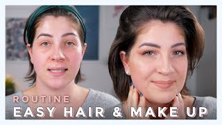 EINFACHE HAAR & MAKE UP ROUTINE | STYLE AND TALK | JackieLina