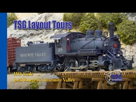 HO Scale DCC Layout Tour Yosemite Valley Railroad With Jack Burgess YVRR