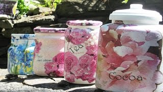 DIY  Glass Jar to Storage Container Organize!