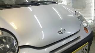Ремонт капота после града без покраски Daewoo Matiz  20191018-20191020