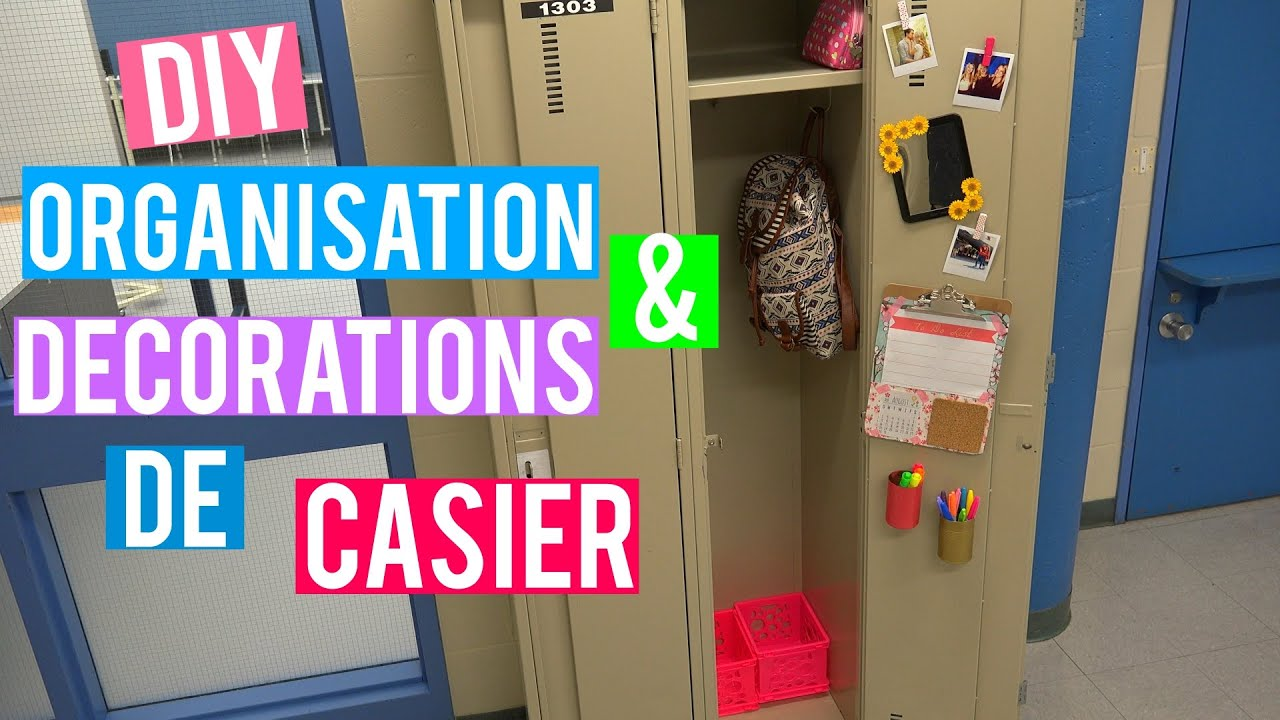 diy organisation d corations de casier back 2 school 2015 youtube. Black Bedroom Furniture Sets. Home Design Ideas