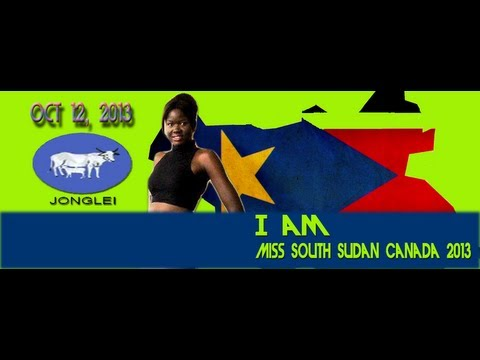 Elizabeth Atong for Miss South Sudan Canada 2013