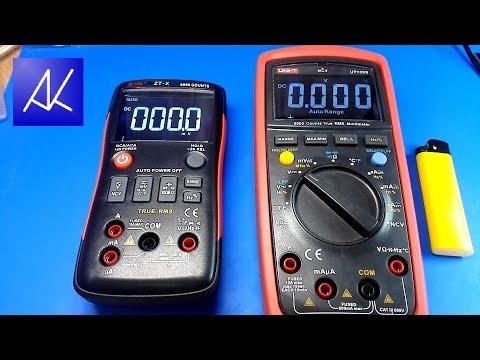 Мультиметры ZT-X и UT139S.