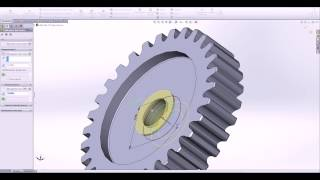 SolidWorks. Зубчатое колесо. SolidWorks.Gear