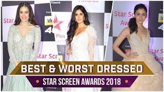 Deepika Padukone, Katrina Kaif, Alia Bhatt: Best and Worst Dressed at Star Screen Awards 2018