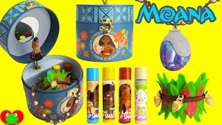 Moana Music Box Necklace and Lip Balms with Disney Surprises