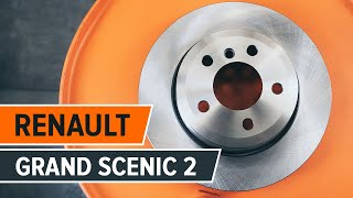 RENAULT GRAND SCENIC 2 hátsó féktárcsák és fékbetétek csere ÚTMUTATÓ | AUTODOC