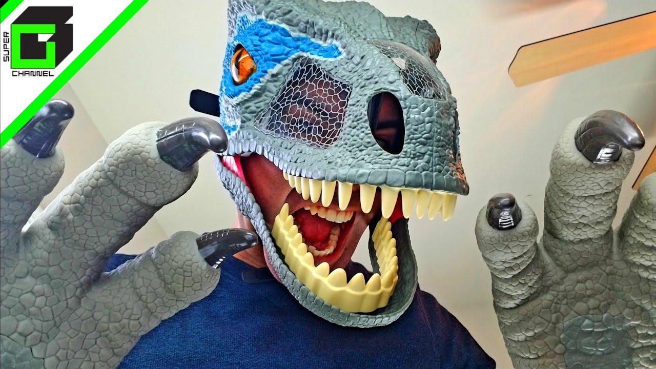 Jurassic World Chomp N Roar Mask Velociraptor Blue Fallen Kingdom Dinosaur Claws