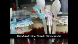 Based Red Velvet Nutella Cheese In Jar.flv