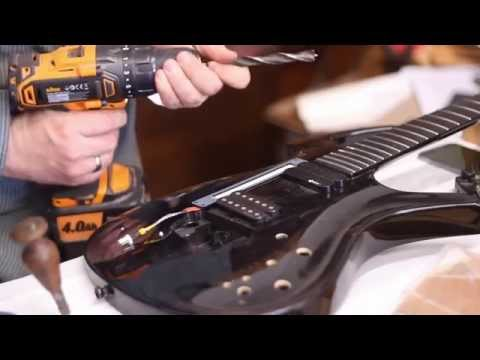 How To Install An Amptone Lab MIDIstrip In A Parker Fly Guitar
