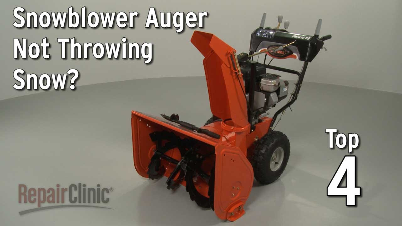 medium resolution of snowblower auger not throwing snow snowblower troubleshooting youtube