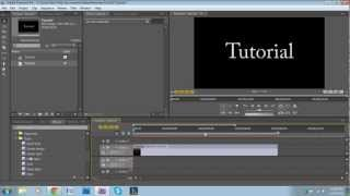 how to make a basic intro in adobe premiere pro