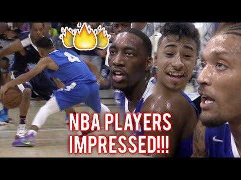 Julian Newman PROVES HE'S NBA READY! 16 POINTS IN QUARTER VS PROS In MIAMI!