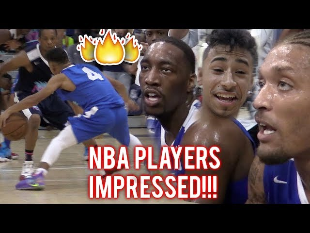 Julian Newman PROVES HES NBA READY! 16 POINTS IN QUARTER VS PROS In MIAMI!