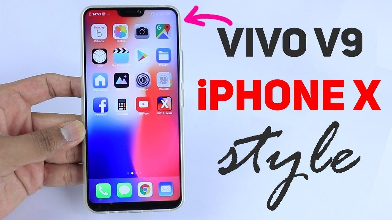 Vivo V9 to iPHONE X theme style and look in hindi | by TITBITS