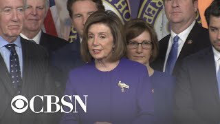 Pelosi: Timing of trade deal with Mexico and Canada and announcement of articles of impeachment n… Video
