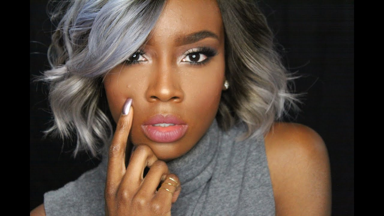 Silver Hair Color Ideas For Dark Skinned Women YouTube Of