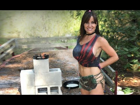 AMAZING tips  for rocket stove survival, prepper tools!  STUNNING woman