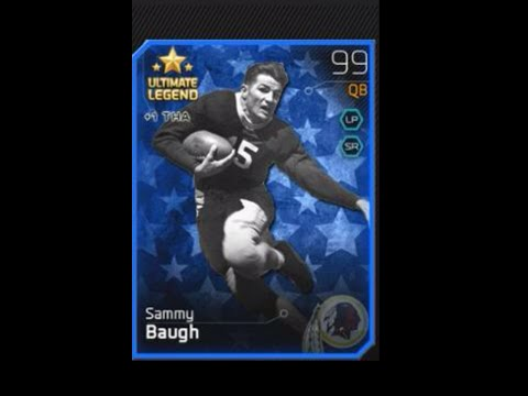 MUT 25 Card Review Ultimate Legend Sammy Baugh