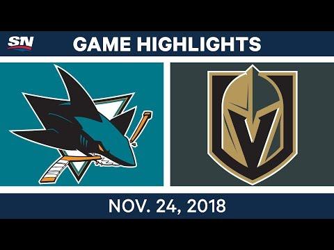 NHL Highlights | Sharks vs. Golden Knights – Nov. 24, 2018