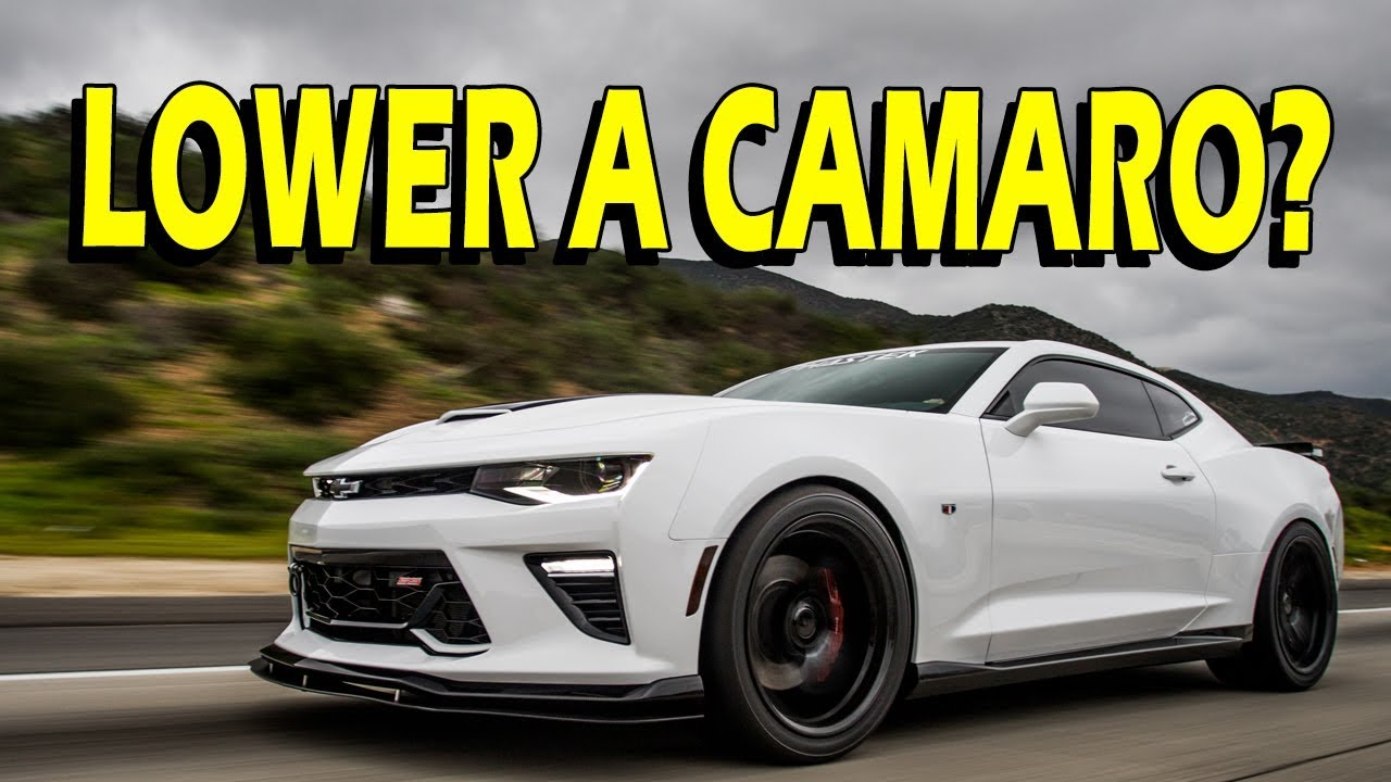 2017 Chevrolet Camaro 1Ss >> Lowering Springs with and without MRC - Camaro SS - YouTube